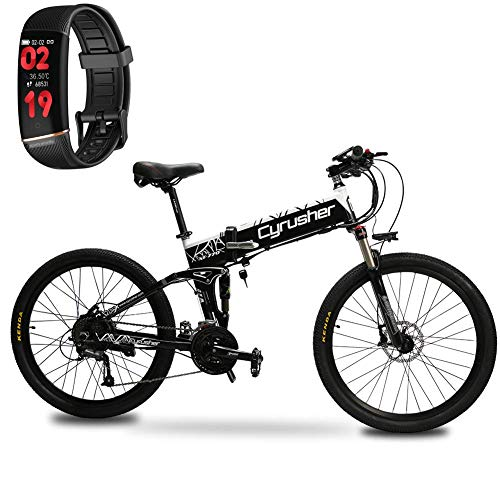 Extrbici Bicicleta Eléctrica Plegable Montaña Hombres Adultos MTB 500 W 48 V...