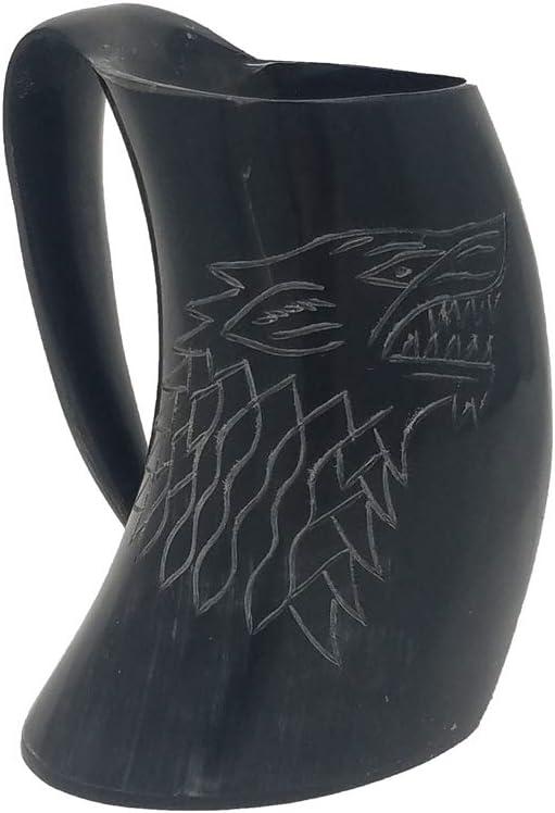 商品 秀逸 Buddha4all Game of Thrones Stark Drinking Viking Mug Horn House