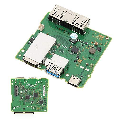 Dpofirs Placa de Circuito de la estación de Acoplamiento, Placa de Carga HDMI, conexión de la Consola al televisor y Carga, Placa de Circuito Reemplazo para Uso del Interruptor en la Base