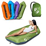 OMG Plus Multi-Function Dual Use Inflatable Air Lounger,Air Sofa & Leaking Free Air Couch for Parties Climbing Beach Traveling Camping (Green)