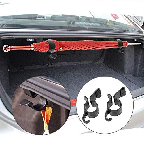 CAheadY 2 Teile/Satz Regenschirm Halter Stamm Organizer Auto Hinten Montagehalterung Handtuchhaken Black