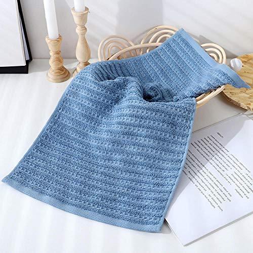XINDUO Toallas de Uso Diario,Toalla de algodón Peinado Simple Absorbente 3pcs-Blue_34 * 72,Toallas de algodón Ultra Suaves y absorbentes