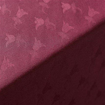 Adonie – Nappe modèle TULIPAN, 50% coton/50% polyester, lavable en machine à laver (140*250) Bordeaux
