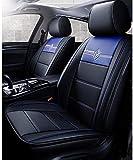 Cubiertas de asientos de cuero, imitación de cuero de vehículo automóvil amortiguador de la cubierta para coches SUV Camioneta Universal Fit Set de Accesorios para automóviles Interior,Azul