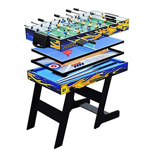 Calcio balilla Biliardo Multifunzionale per Bambini Tavolo da Gioco Pieghevole 5 in 1 Tavolo da Ping Pong per Bambini Il Miglior Regalo per I Bambini (Color : Blue, Size : 120x60x85cm)