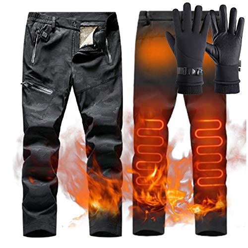ZYQDRZ Pantalones De AlgodóN con CalefaccióN Inteligente USB, Pantalones De Carga para Hombres Y Mujeres De Invierno, Viajes EléCtricos Al Aire Libre,A,XXXL