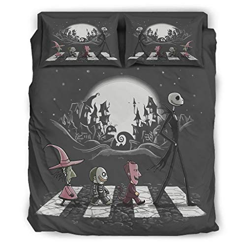 Four-piece Bed Set Printed Nightmare Before Christmas Duvet Cover Set With Pillowcases Christmas Duvet Cover white 203x230cm