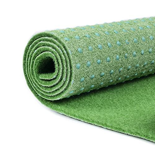 Carpeto Rugs Gazon Artificiel pour Balcon Jardin Terrasse Synthetique Exterieur - Synthétique au mètre - Rouleau Moquette Dimensions au Choix - Vert Clair 200 x 100 cm ( 2 m2 )