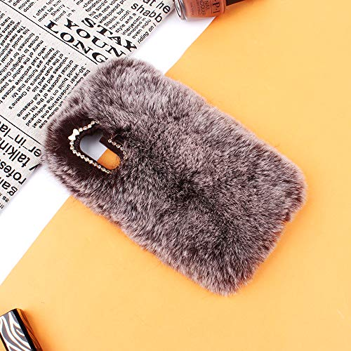 Miagon Handyhülle für Samsung Galaxy Note 10,Super Weich Winter Warm Lustig Kunstpelz Plüsch Fluffy Flexibel Schutz Abdeckung Rückseite Handytasche