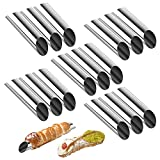 Cannoli Tubes,5 inch Large Stainless Steel Cannoli Forms Non-stick cream horn Danish Pastry Molds for Croissant Shell Cream Roll Pack of 15