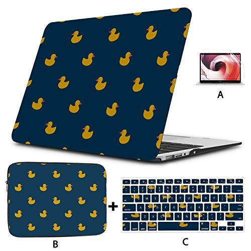 MacBook Air Case Ducks MacBook Case 13 Inch Hard Shell Mac Air 11'/13' Pro 13'/15'/16' with Notebook Sleeve Bag for MacBook 2008-2020 Version