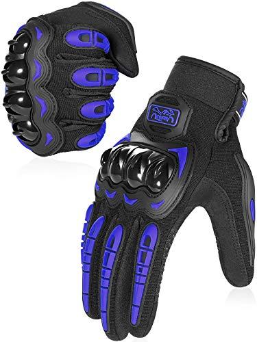 COFIT Guantes de Motos, Guantes de Pantalla Táctil Full Touch para Carreras de Motos, MTB, Escalada, Senderismo y Otros Deportes al Aire Libre - Azul M