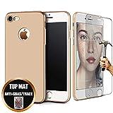 [Lot de 2] Coque Compatible avec iPhone 6s / 6 (4,7') Silicone Housse Etui Mat Doré...
