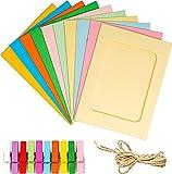 Marco de fotos de papel de 10 colores de 20 piezas Pared de fotos, con clip...