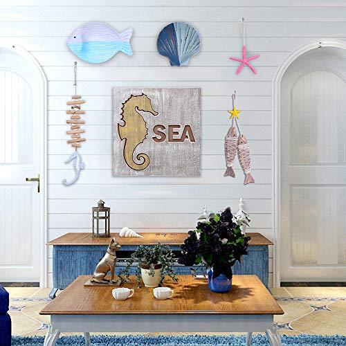 8 PCS decoraciones marítimas de madera para la pared estilo