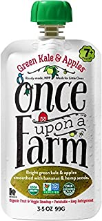 Once Upon a Farm Green Kale & Apples (Stage 2 Organic Baby Food), 3.2 oz