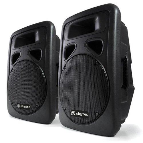 bester der welt Ein Paar Aktivlautsprecher Skytec 38-cm-PA-Boxen mit einer Leistung von jeweils 400 W (XLR-Mikrofoneingang,… 2021