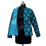 Handicraft Bazarr Abrigo vintage de retazos, para exteriores, chaqueta acolchada, sudaderas activas, unisex, forro polar, decoración étnica, colchas, chaqueta de algodón, cortavientos (XL)