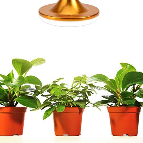 Haokaini Bombilla de Crecimiento Led E27 18W 44Leds Luz del Día Lámpara de Crecimiento de Espectro Completo Luces de Crecimiento de Plantas para Interior Cultivo Hidropónico de Invernadero