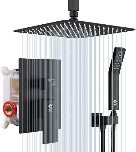 SR SUN RISE 10 Inch Ceiling Mounted Shower System Rain Mixer Shower Combo Set Rainfall Shower product image