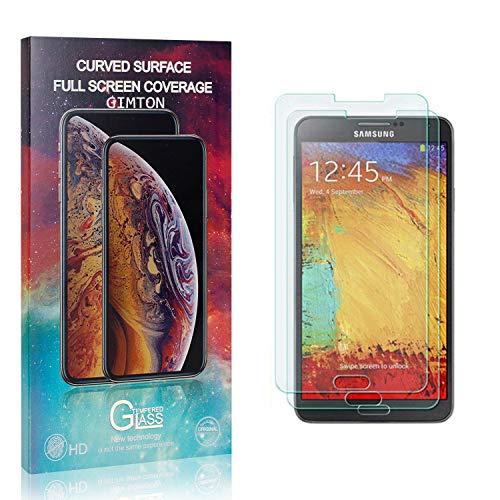 GIMTON Displayschutzfolie für Galaxy Note 3, 9H Härte Anti Fingerprint Displayschutz, Ultra Dünn Schutzfilm aus Gehärtetem Glas für Samsung Galaxy Note 3, 2 Stück