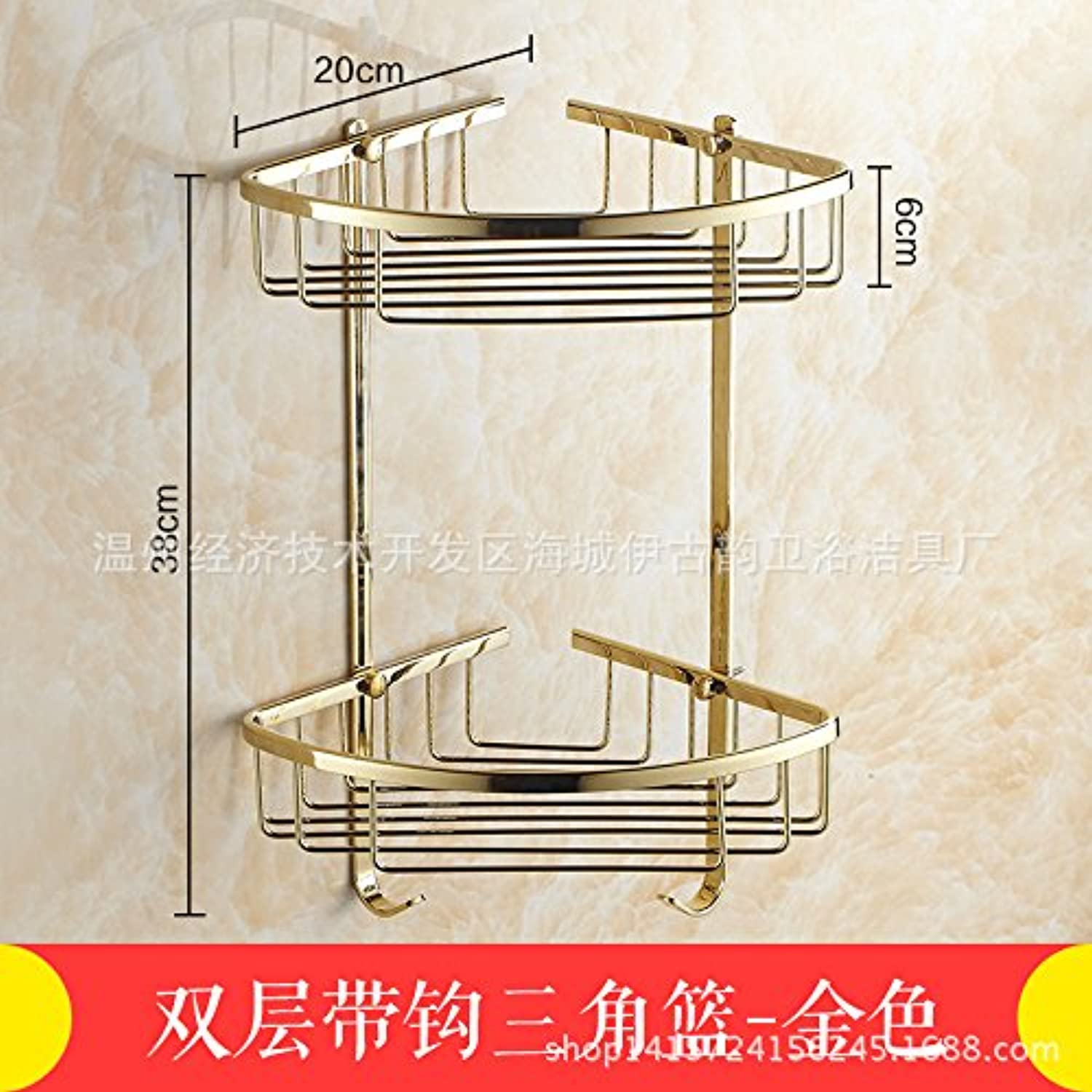 European antique copper bathroom racks racks of gold triangular basket bathroom accessories