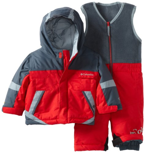 Columbia Unisex-baby Infant Boys Buga Set, Bright Red/Mystery, 6 Months
