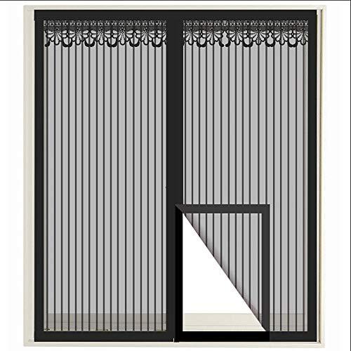 Fenetre Magnetique, Insect Stop Moustiquaire Standard Contre Insectes/moustiques pour Fenêtre avec Bande Adhésive, (Noir)
