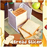 TTlove Bread Slicer | Loaf Cutting Board & Knife Slicing Guide | Suitable For Homemade or Bought Bread Cakes & Loaves,Bread Slicer,Bread Slicers for Homemade Bread with ABS Material,Bread Cutter