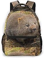クレイドルマウンテンウォンバット Mouse リュックバック リュックナップザック バッグ ノートパソコン用のバッグ 大容量 バックパックチ キャンパス バックパック 大人のバックパック 旅行 ハイキングナップザック