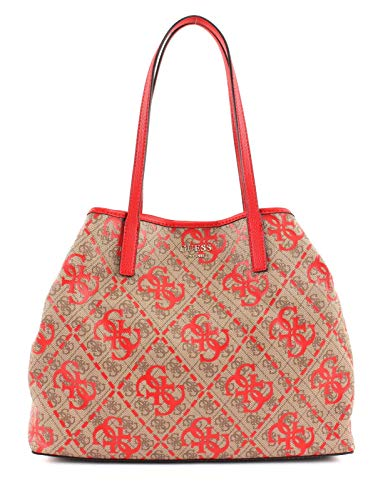 Guess Vikky Large Tote Red Multi