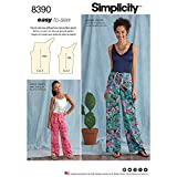 Simplicity Easy to Sew Women's Loose Fitting Pants Sewing Patterns, Sizes 7-16