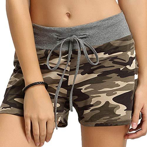Pantalones cortos para mujer de verano cordón casual cordón suelto shorts cómodos pijama pantalones yoga deporte pantalones cortos sweat shorts