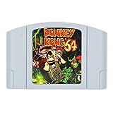 WPOMLEN Tarjeta de cartucho de juego compatible para N64 Donkey Kong US Version