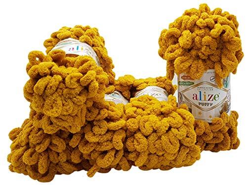 Alize Puffy - Ovillo de lana para tejer (5 ovillos de 100...
