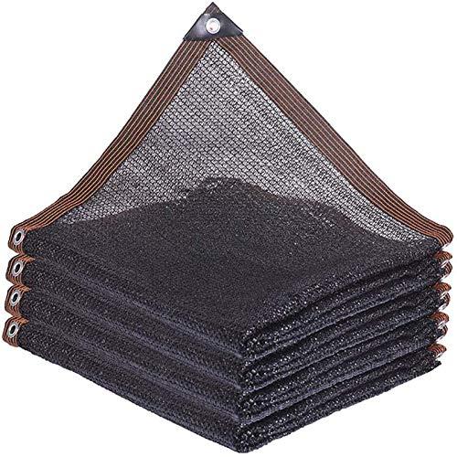 LYQCZ Sunshade Net Mesh Sunblock Plant Shade Cloth Black Heat Insulation,75% Shading Rate Shading Net Reinforced Corner Design, Heavy Duty Mesh Tarp For Outdoor Patio(6x8m/19.68x26.24ft)