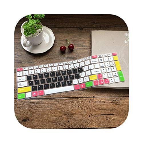 Keyboard cover Silicone Keyboard Protector for Lenovo G580 G570 G575 G585 G510 G505 G500 G501 G700 B580 B570 B575 B575E B590 M54 00-Candy Black