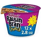 Kellogg's Raisin Bran Crunch, Breakfast Cereal in a Cup, Original, Good Source of Fiber, Bulk Size, 12 Count -16.8 oz Trays