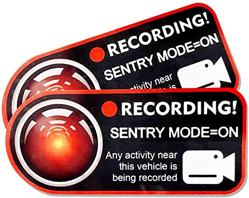Pegatina para ventana de grabación de cámara para Tesla modelo 3 S X Y, no destructivas, grabación, antirrobo para pegatinas electrostáticas Tesla (2 unidades, rojo))