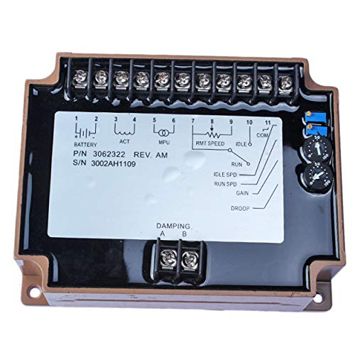 FridayParts Engine Governor Speed Controller 3062322 EFC3062322 Generator Speed Control Unit for Cummins Engine KTA50 KTA38 KTA19