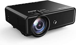 Tontion Upgrade 3400Lux Video Projector 50,000 Hours 176inch Movie Projector Home Theater with HDMI Cable, Support 1080P/T...