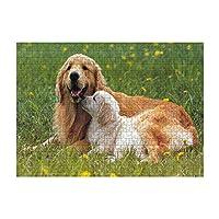 1000ピース ジグソーパズル木製プレプリントパターン犬ジグソーパズル 1000ピース 絵画 大人 子 向け 木製パズルDIY家の装飾、パズルゲーム、減圧教育ギフト75x50 cm(8歳以上に適しています)