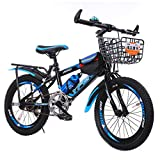 GZMUK Mountain Bike para Adultos, Niños, Niños, Niñas.Bicicletas Montaña 18/20/22/24 Pulgadas, MTB para Hombre, Mujer, con Asiento Ajustable,Azul,24 in
