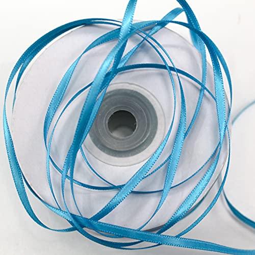 CaPiSo Nastro di raso da 100 m, 3 mm, nastro decorativo per matrimonio, Natale, colore: blu ghiaccio