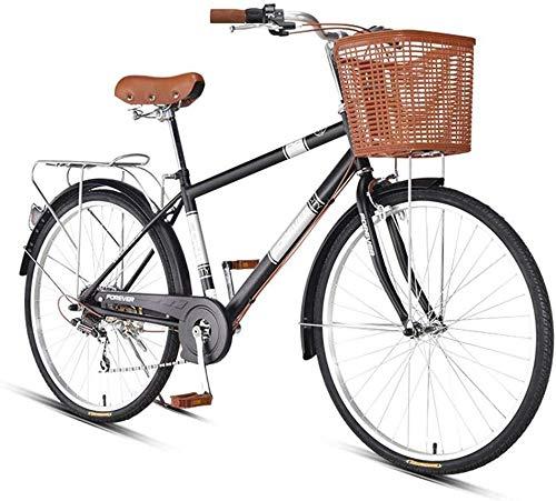 FEE-ZC Universal City Bike 26 Zoll 7-Gang Pendler Fahrrad Leichtgewicht für Erwachsene
