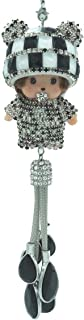 Royalfox(TM) Luxury 3D Bling Hanging Crystal Doll with Charm Car Ornament Decor Rear View Mirror Decoration Bling Car Acce...