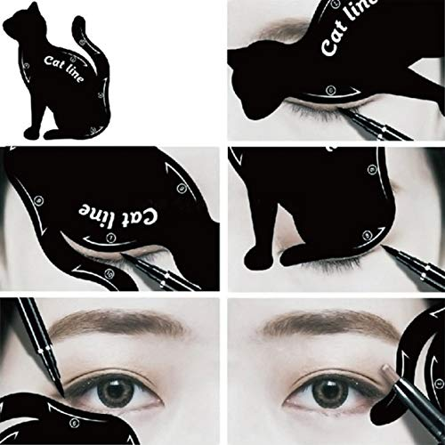 Kongqiabona-UK Eyeliner de Maquillage des Yeux de Chat pour Femmes Modèle de Moule Unique Outil de Maquillage Kit pour Les Yeux Outil d'eye-Liner élégant