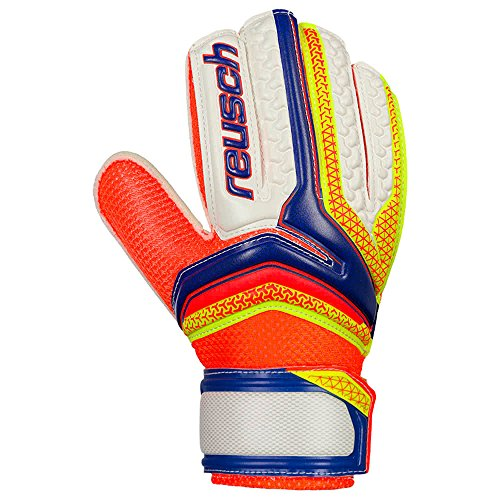 Reusch Serathor, Guante de Portero, Dazzling Blue-Safety Yellow, Talla 10.5