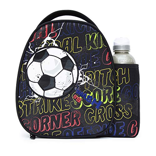 Smash Insulated Lunch Bag & 500ml Bottle, 8.5cm x 25.5cm x 25cm, Kick Off