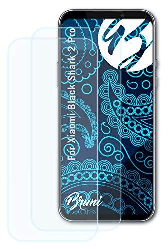 Bruni Schutzfolie kompatibel mit Xiaomi Black Shark 2 Pro Folie, glasklare Bildschirmschutzfolie (2X)